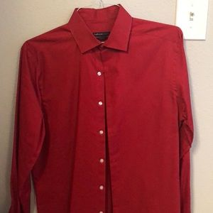 VanHeusen Studio Red Long Sleeve Dress Shirt